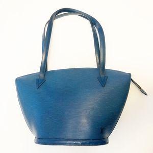 Authentic Louis Vuitton Epi Blue Saint Jacques GM